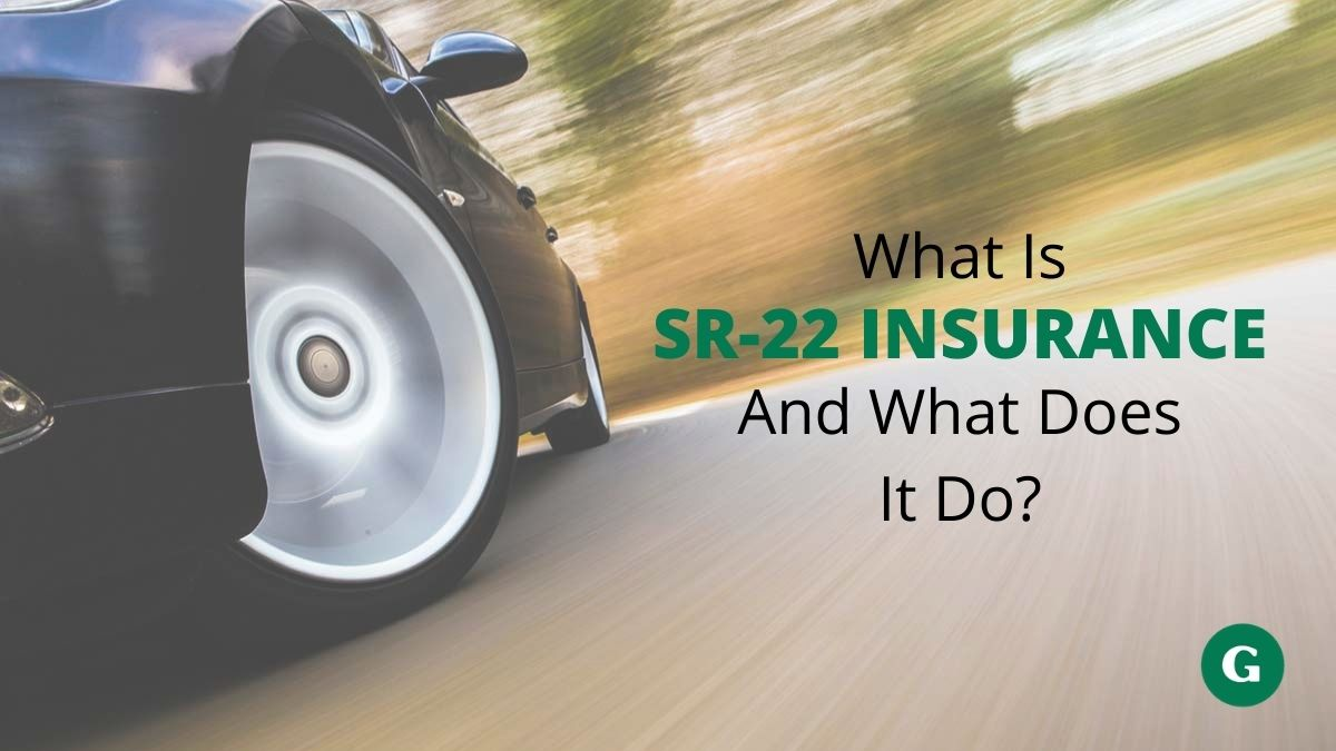 Car speeding on road - what is Sr22 insurance