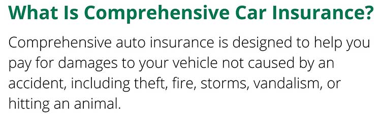 Graphic - definition of comprehensive car insurance